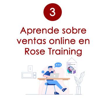 aprende sobre ventas online en rose bolsos training